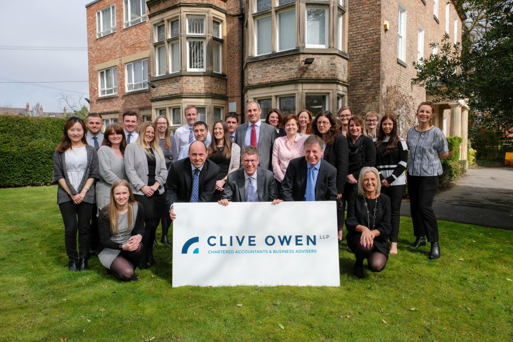 Clive Owen LLP - staff with new brand