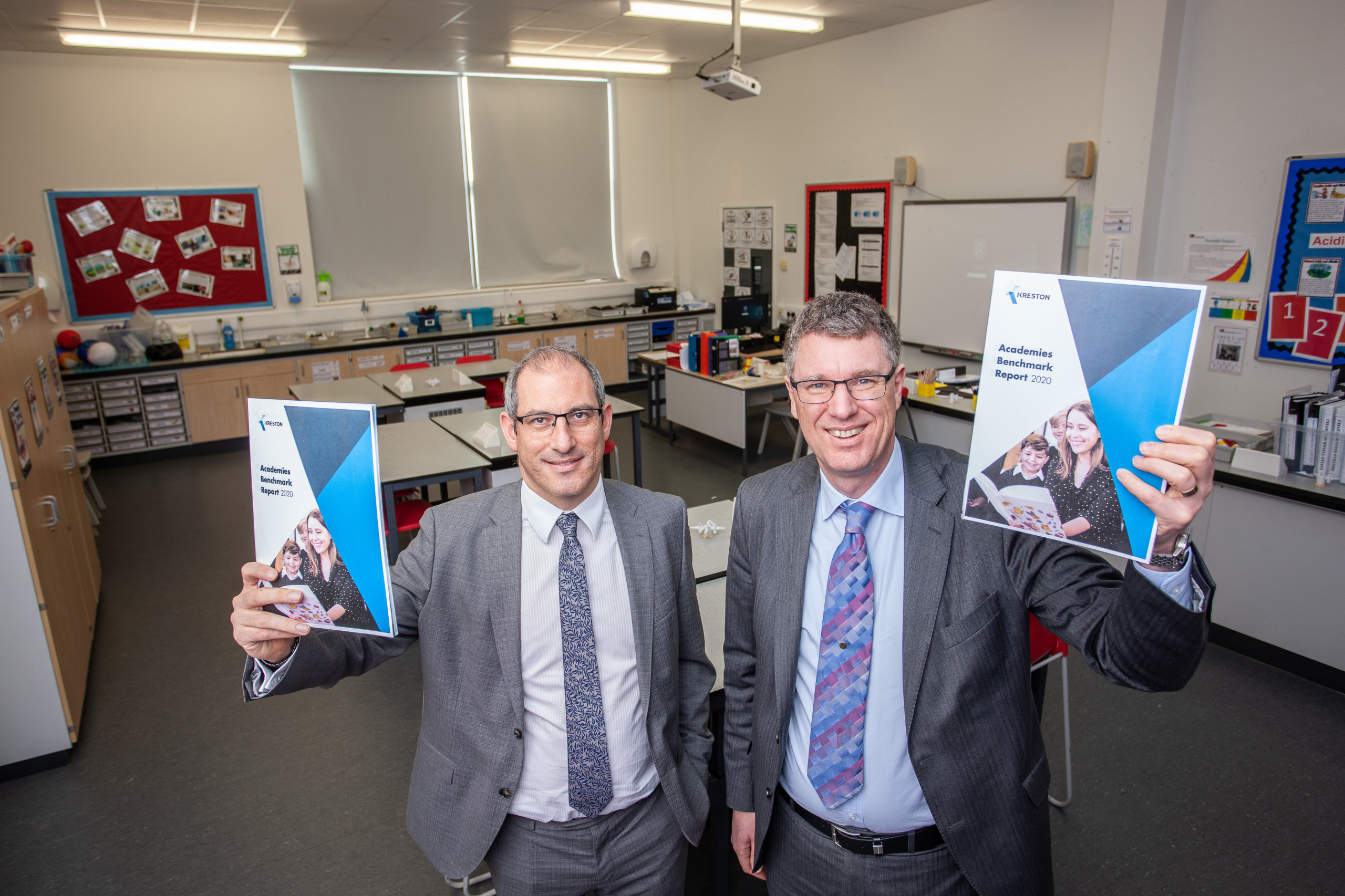 Chris Beaumont and Kevin Shotton with the Kreston Academies Benchmark Report 2020