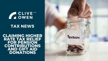 Claiming higher rate tax relief for pension contributions and gift aid donations