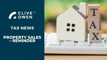 Property sales – reminder