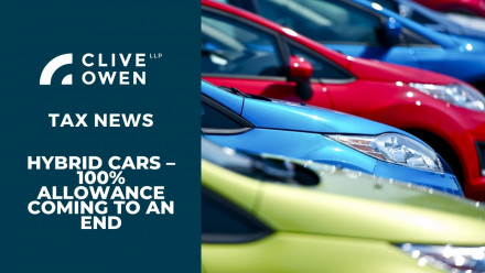 Hybrid cars – 100% allowance coming to an end